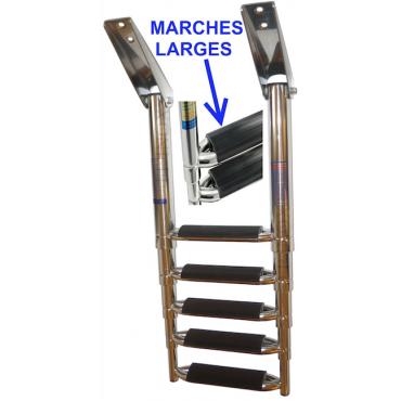 Echelle 5 marches inox 316...
