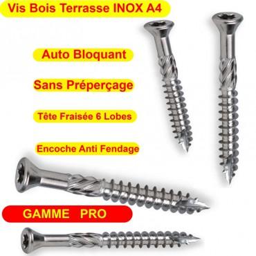 Vis inox A4 terrasses Bois Dur Exotique GAMME PRO 5x50 5x60 5x70 Piscine