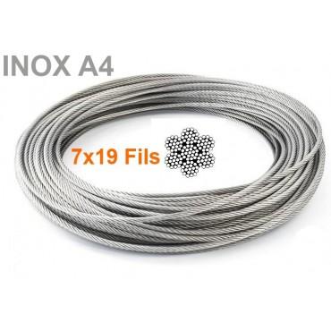 Câble inox 7x19 ( 133 Fils...