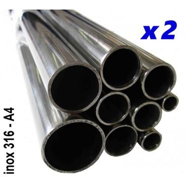 Tube inox 316 - A4 Poli...