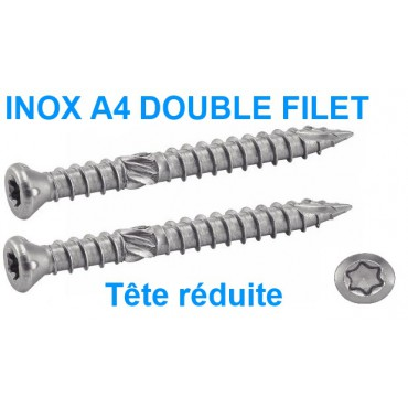 Vis inox A4 Double Filet...